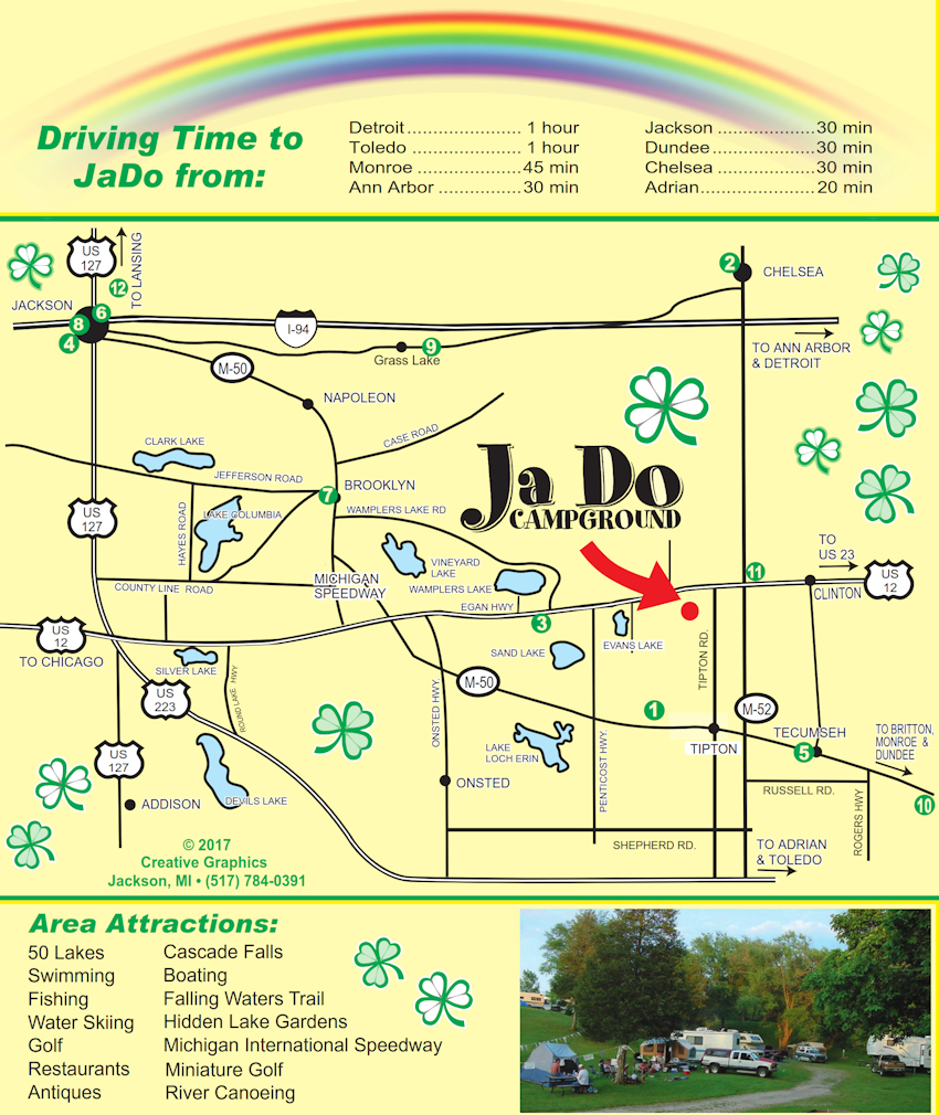 JaDo Campground Local Map